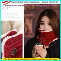New innovative electronic gift items warm scarf and power bank as fancy communion gifts