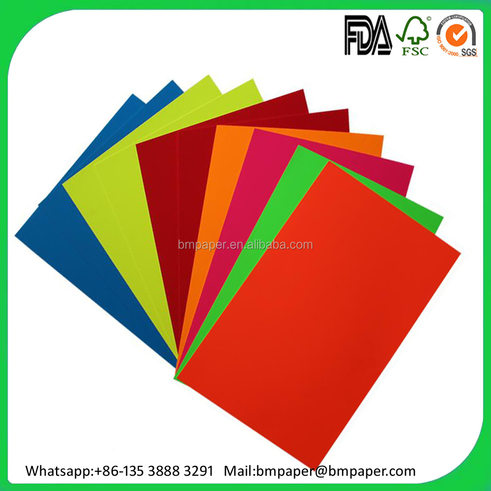 Colorful self adhesive fluorescent / neon craft paper in sheets