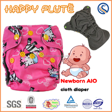 happy flute Hot Sale Top Quality Competitive Price washable newborn Baby Cloth Diaper