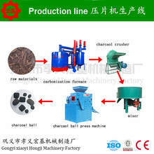 high output coal dust briquette making machine for BBQ charcoal