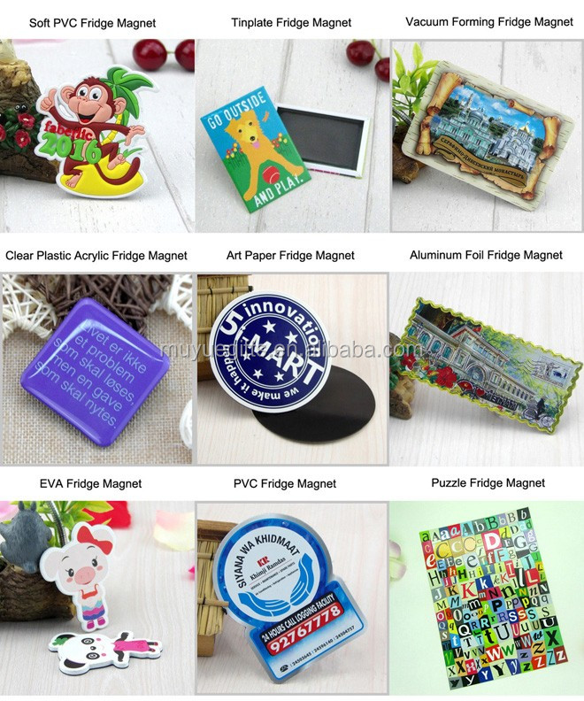 Custom art paper fridge magnet photo frames