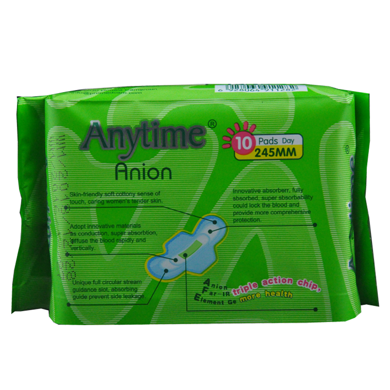 SN528 Natural Super Absorbent Customization Wholesale Price Day Use Sanitary Pad Supplier in China