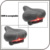 Amazon hot sell Saddle Leather Steel Rail Hollow Soft Cushion Road MTB Fixed Gear Bike Bicycle Cycling Saddle with Tail Light