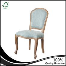 High Quality French Oak Wooden Dining Chairs For Restaurant