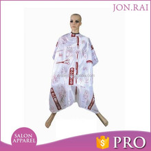 Professional good quality hair salon capebreathable and waterproof barber cape salon apparel colorful cutting cape