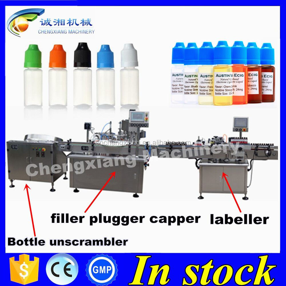 Germany love automatic e-liquid filling machine,filling capping and labeling machine price