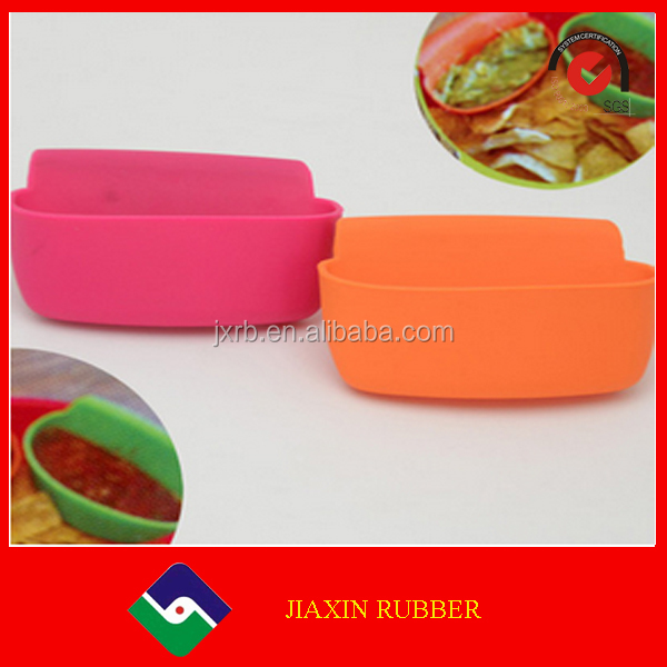 New product Assorted Sauce Ketchup Jam Dip Clip Cup Bowl Saucer Tableware KitchenSilicone Suction Bowl For Promotion Gift