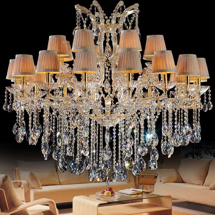 Interior Luxury Design Home Decorative Maria Theresa Crystal Chandeliers Professional LED Lighting Manufacturers CZ6010/18