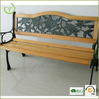 2016 Hot sale wood slats for cast iron bench,outdoor furniture wood slats,park bench slats 15006
