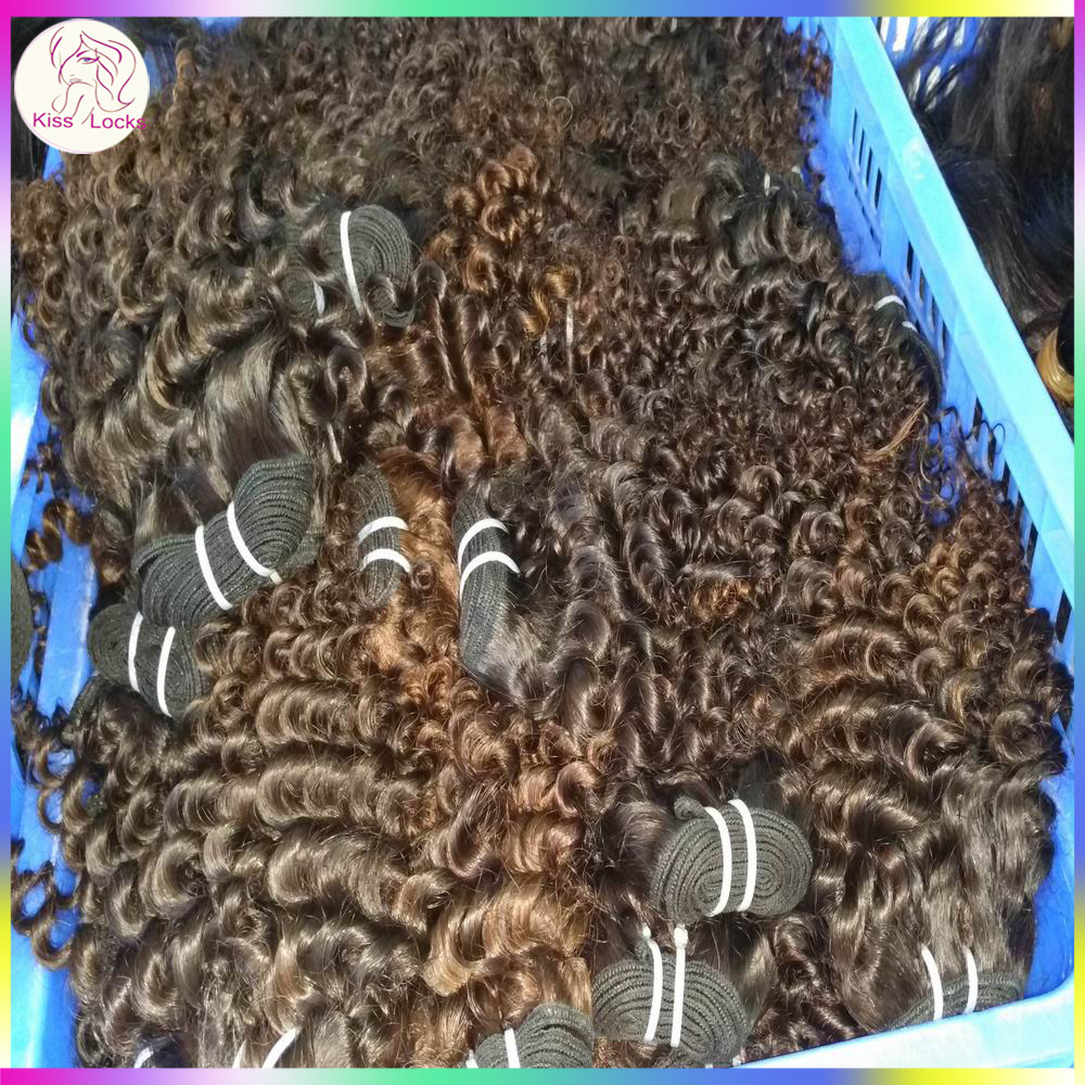 Weave aholic World Factory manufacturer Kiss Raw Virgin deep curly Cambodian Human Hair Extesnion Wholesale Bundles Grade 10A