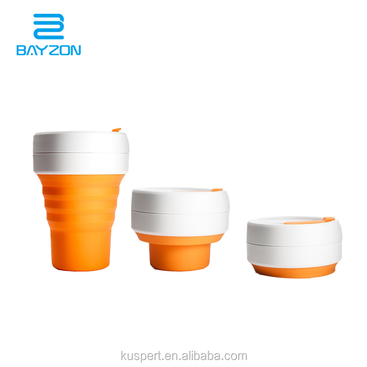 350ml BPA free foldable coffee <strong>cup</strong>