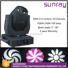 18 Channels Control Mdx512 Ip20 Dj Stage Use 330W 15R Beam Sharpy Moving Head Light