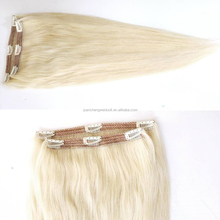 Best quality factory price clip in hair extension making by machine for chilidren