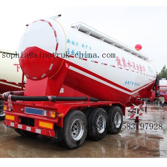 bulk cement trailer,50cbm Cement bulk tanker trailers