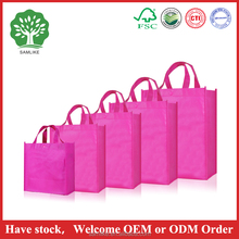 Wholesale custom 100 natural non woven bag printed custom tote bag cheap pp woven shopping bag