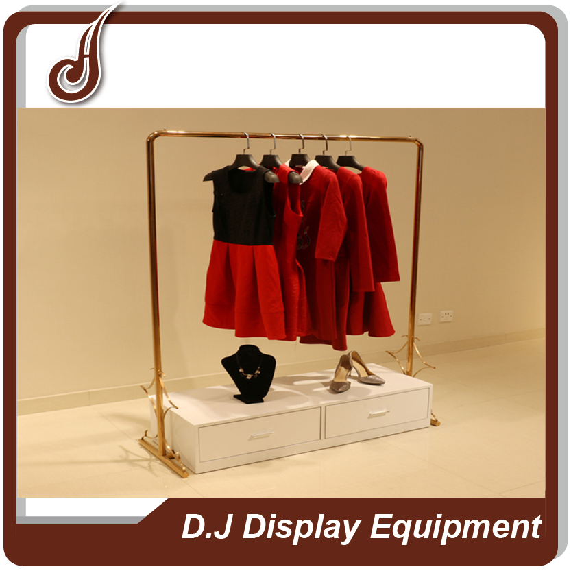 FR-MDF PD material with drawer clothes modern display racks