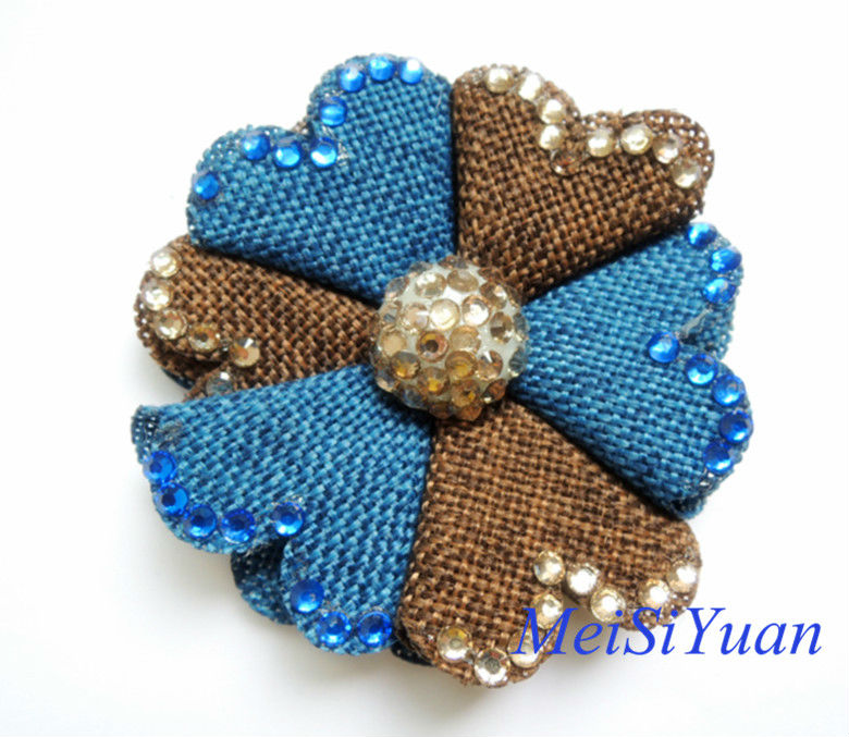 Lien Shoe Flower With Rhinestone For