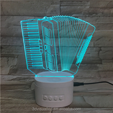 Customized new creative products 3d table led night light with BT speak