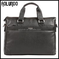 2018 new hot sale design mens leather laptop briefcase