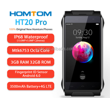 Homtom HT20 Pro IP68 Waterproof Mobile Phone 4.7 Inch HD Mtk6753 Octa Core Android 6.0 3GB+32GB 13MP Fingerprint 4G Smartphone