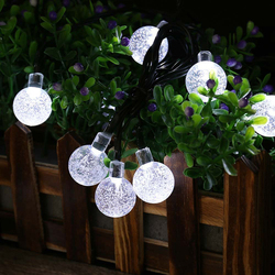 outdoor decoration Crystal Ball white string lights solar
