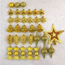 2017 New Arrival 42Pc/Set Christmas Tree Balls Decorations Hanging New year Xmas Ornaments China Suppliers
