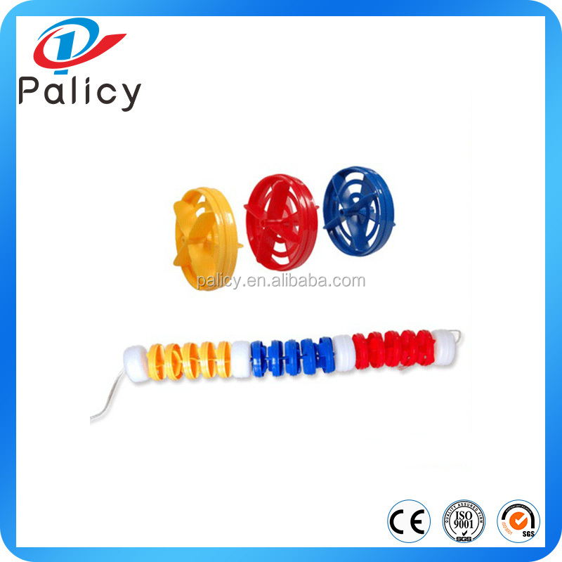 Competition swimming pool float lane line