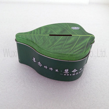 Tea Leaf Shape metal tin box
