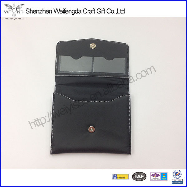 Promotional custom famous brand faux leather car document folder