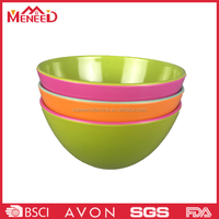 Non-toxic two tone rice/noodle/soup bowl melamine plastic mixing bowl