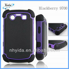 Luxury Basketball Texture Phone Case For Blackberry 9700 PC + Silicone Phone Case For Blackberry 9700