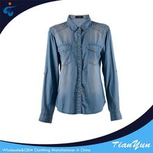 Manufactory wholesale cheap fashion eco-friendly adult blouses
