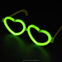 Hot Selling LED Light up Glow in the Dark Heart Shape Glasses for Party/Festival/Dance/Concert/Camping/Bar/Game/Wedding
