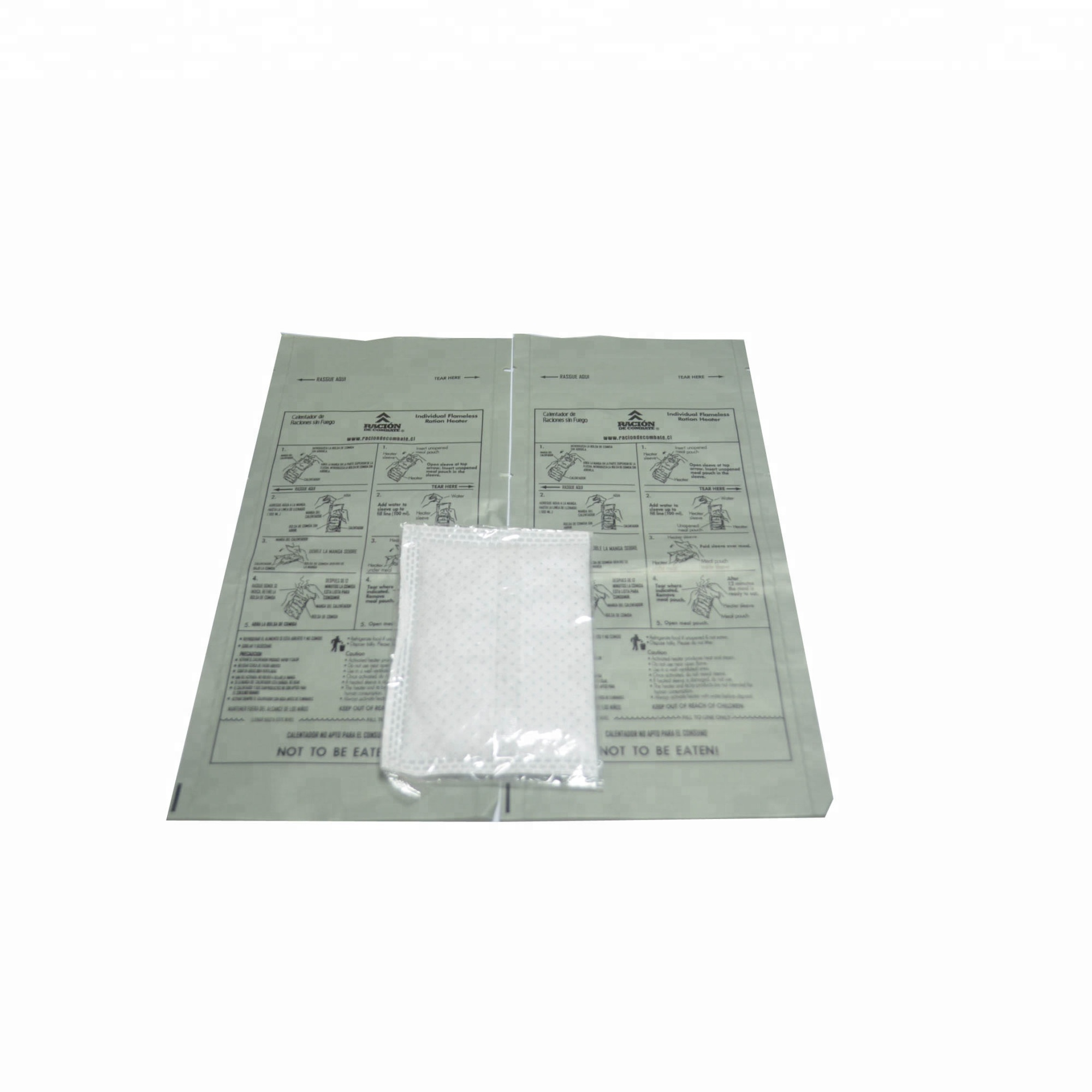 Hongqiang 10 mins emergency survival mre food ration packs for heater bags