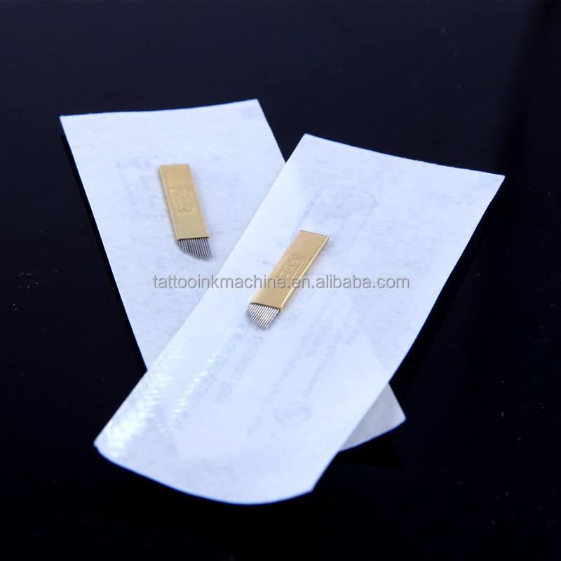 Permanent Makeup Disposable Eyebrow Embroidery Tattoo Blade Needle