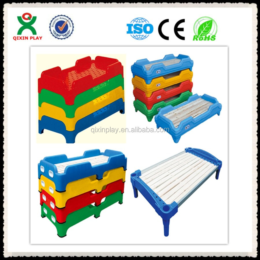 Guangzhou plastic car bed kid bed furniture wood folding bed QX-KF14