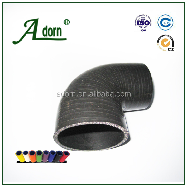 Sizes - 90 degree elbow silicon rubber hose / tube
