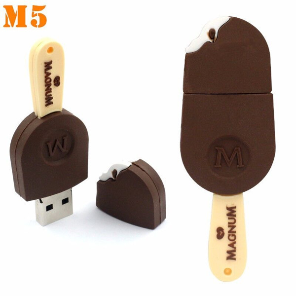 PVC icecream usb flash drive wholesale seashells free promotional items diving computer