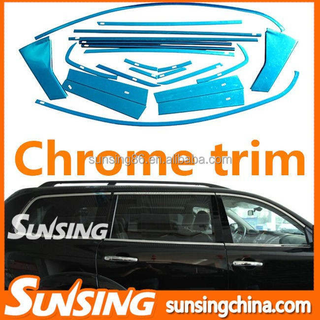 car accessories chrome trims mitsubishi pajero body parts