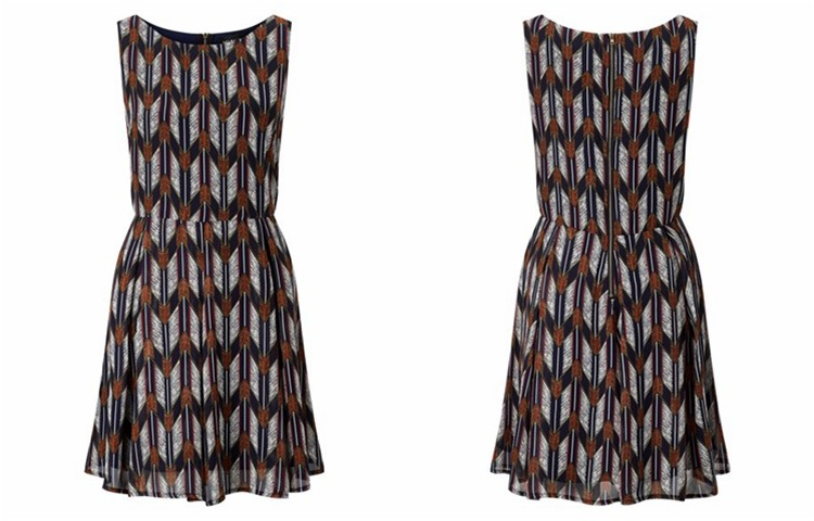 YEEL new fashion pretty Anti-Static arrow print african dresses for women