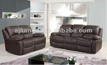 leather or fabric recliner sofa 1+2+3 KD-RC15