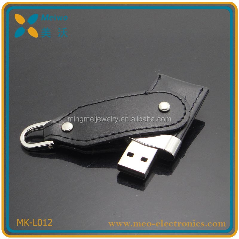 Business leather usb , unqiue design leather usb flash drive , swivel leather usb