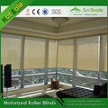 Sunshade Durable Motorized Roller Blinds With Remote Control