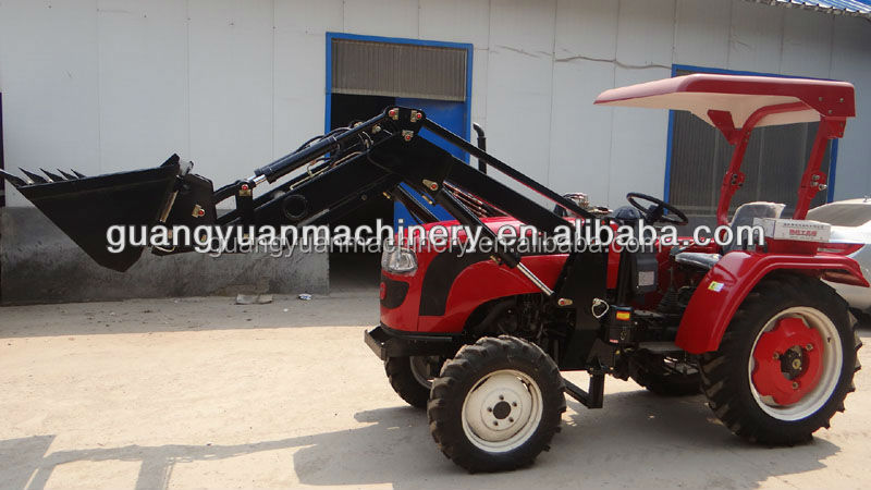 Luzhong 354 farm tractor with backhoe loader and front boom