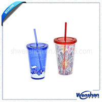 bap free roly-poly plastic tumbler with straw