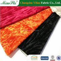 New arrival polyester crushed miscellaneous velvet upholstery fabric