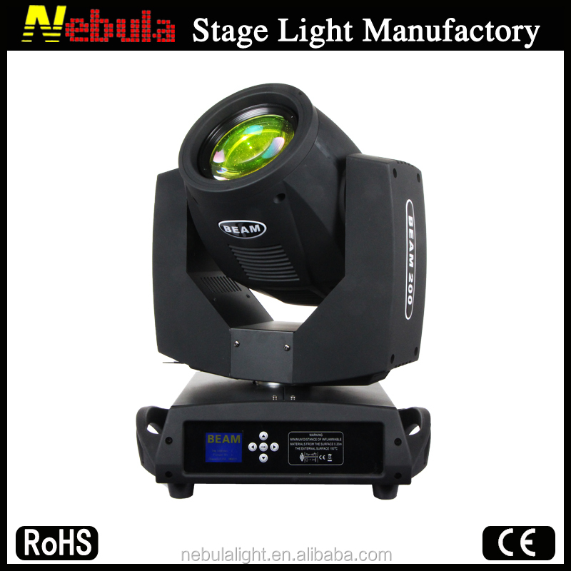 Nebula beam 200 moving head stage lighting for 2 years warranty