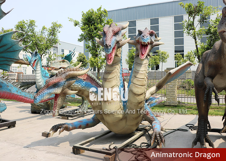Lifelike Chinese Life Size Dragon Statue