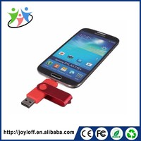 Good Quality Dual Double Plug Interface Otg Mobile Smart Phone Usb Swivel Flash Drive