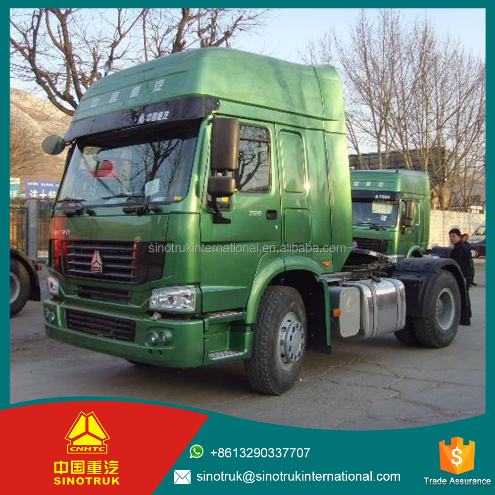sinotruk truck 4*2 outer sun visor adjustable roof flap371HP vehicle tractor truck for sale